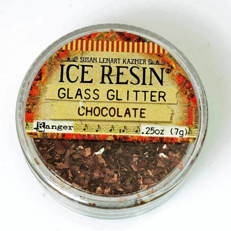 Ice Resin - German Glass Glitter Shards - Chocolate