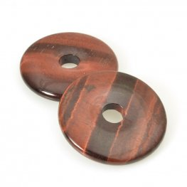 Stone - 40mm Donut Pendant - Red Tiger Eye