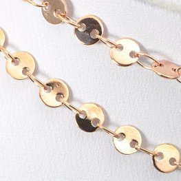 Chain - 4mm Round Flat Disc Coin - Rose Gold (foot)