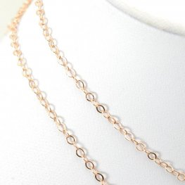 Chain - 1x2mm Petite Cable - Rose Gold (foot)