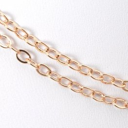 Chain - 4x3mm Classic Cable - Rose Gold (foot)