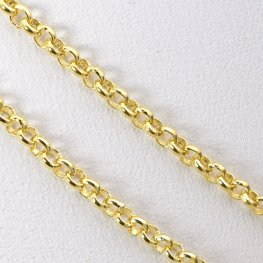 Chain - 2mm Rolo Chain - Bright Gold Plated (foot)