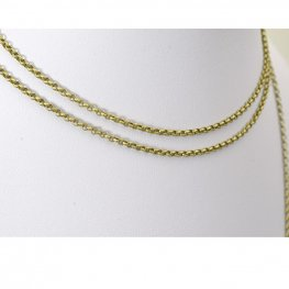 Chain - 2mm Rolo Chain - Antiqued Brass (foot)