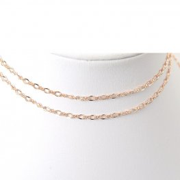 Chain - 3mm Figaro - Rose Gold (foot)
