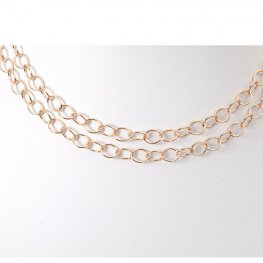 Chain - 5x6mm Oval Cable Chain - Rose Gold (foot)