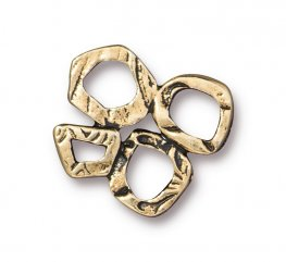 Finding - Link - Intermix 4 Ring Link - Antique Gold