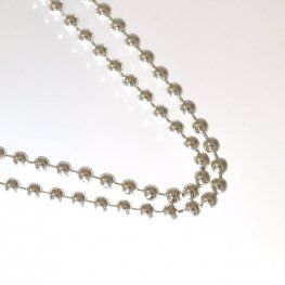 Sterling - Finished Chain - 24in Ball Bead Chain - Bright Sterling