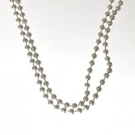 Sterling - Finished Chain - 22in Ball Bead Chain - Bright Sterling