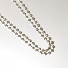 Sterling - Finished Chain - 20in Ball Bead Chain - Bright Sterling