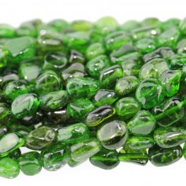 Stone Beads - 4x6mm Pebbles - Diopside (strand)