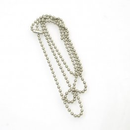 Chain - 2.3mm/24in Ball Chain with Connector - Stainless Steel