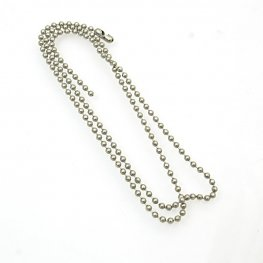 Chain - 2.3mm/20in Ball Chain with Connector - Stainless Steel
