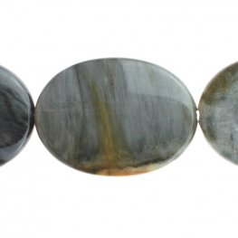 Stone Beads - 30x40mm Oval - Cat's Eye