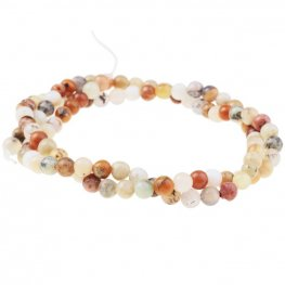 Stone Beads - 4mm Round - Golden Sage Agate (strand)