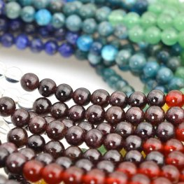 Stone Beads - 6mm Round - Chakra Selection Mixed Stones (strand)
