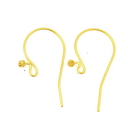 Earring - 32mm Shepherds Hook Earwire with Ball - Vermeil (Pair)