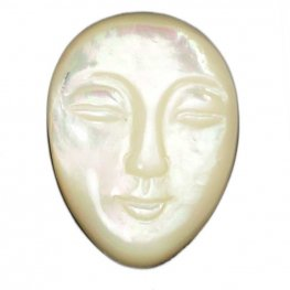 Cabochon - 25mm Calm Face - Mother of Pearl
