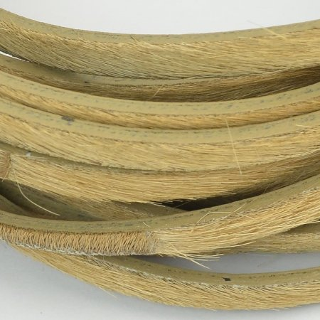 Leather - 5mm Flat Leather Hair - Tan (Inch)
