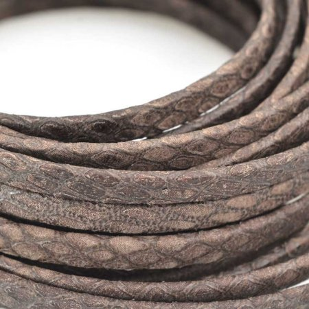 Leather - 5mm Flat Leather Savannah - Deep Brown (Inch)