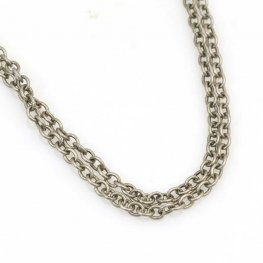 Chain - 2.5mm Round Wire Cable Chain - Antiqued Silver (foot)