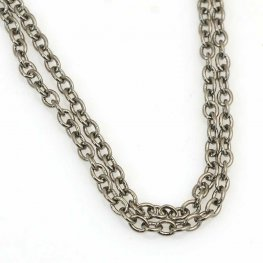 Chain - 2.5mm Round Wire Cable Chain - Gunmetal (foot)