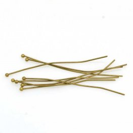 Headpins - 2in / 22ga Ball Head - Antiqued Brass (50)