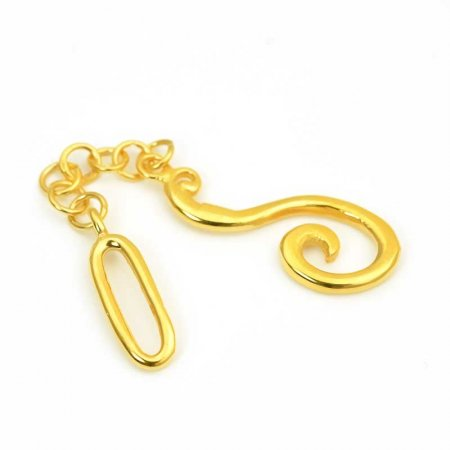 Hook and Eye Clasp - Question Mark Hook - Gold Plated