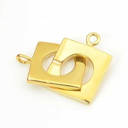 C Clasp - Square - Gold Plated