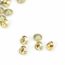 Swarovski - Rhinestones - pp18 Chaton (Article 1028) (Foiled) - Crystal Golden Shadow (1440)