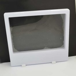 Display Stands - 7in Rectangle Floating Display Box Frame - White