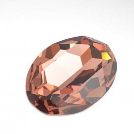 Swarovski Fancy Stone - 22x30mm Faceted Oval (4127) - Blush Rose