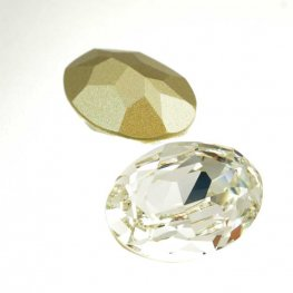 Swarovski Fancy Stone - 18x25mm Faceted Oval (4120) - Crystal
