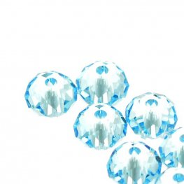 Swarovski Bead - 4mm Faceted Donut (5040) - Aquamarine (24)