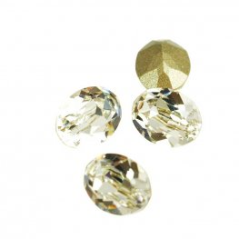 Swarovski Fancy Stone - 6x8mm Faceted Oval (4120) - Crystal (3)