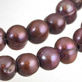 Freshwater Pearls - 10-10.5mm Potato Pearl - Big Hole - Red Plum Pearl (strand)