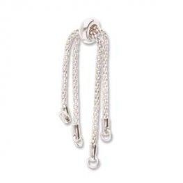 Chain with Clasp - DIY Partial Bracelet with Smart Bead Clasp - Silver Plated
