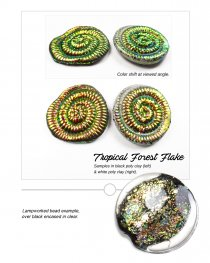 Creative Art Pigments - Lumiere Lusters Regular Flakes: - Tropical Forest Flake (Jar)
