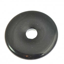 Stone - 40mm Donut Pendant - Blue Goldstone