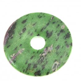 Stone - 40mm Donut Pendant - Ruby Zoisite
