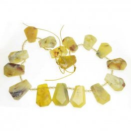 OOAK Stone - Faceted Ladder - Yellow Opal (strand)