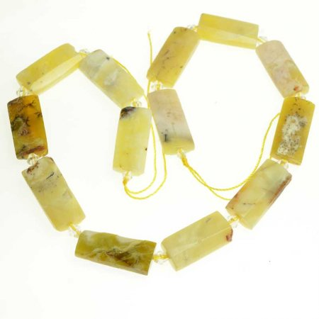 OOAK Stone - Faceted Rectangle - Yellow Opal (strand)