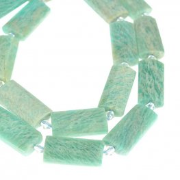 Stone Beads - 14x30mm Faceted Puff Rectangle - Amazonite (strand)