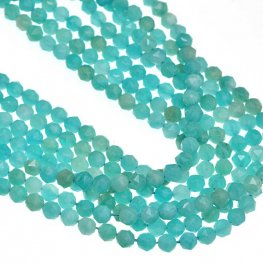 Stone Beads - 4mm DH Faceted Round - Amazonite (strand)