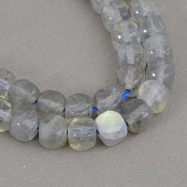 Stone Beads - 4mm Faceted Cubes - Labradorite (strand)