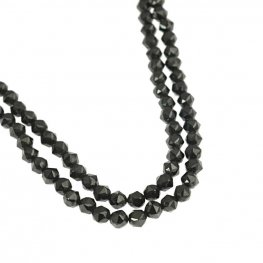 Stone Beads - 4mm DH Faceted Round - Black Spinel (strand)