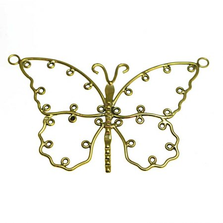 Pendant - Butterfly Armature Style B - Bright Brass