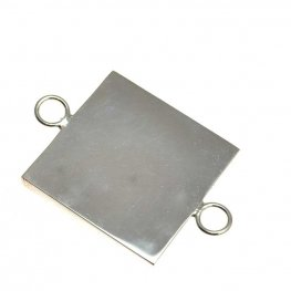 Resin Bezel Tray - Square Link - Bright Silver