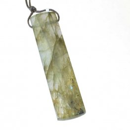 OOAK Stone Pendant - Rectangle - Labradorite