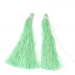 Components - 80mm Tassels - Celery
