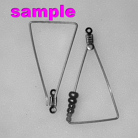 Earring Frame - Pie Wedge - Stainless Steel (10)